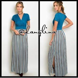 SALE WAS 45$ Surpliced striped maxi dress
